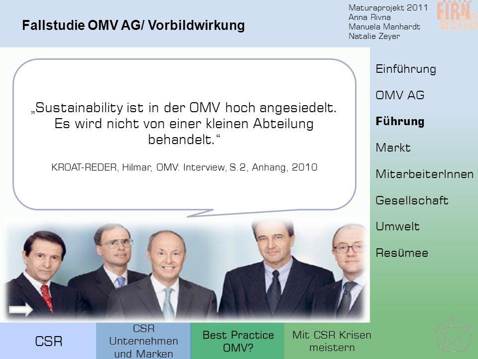 Fallstudie OMV AG/ Vorbildwirkung