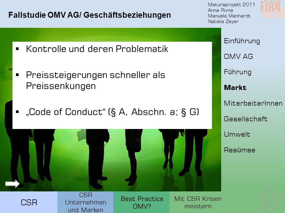 Fallstudie OMV AG/ Geschäftsbeziehungen