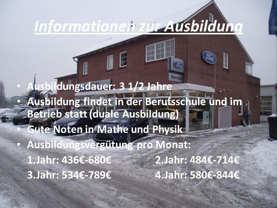 Informationen zur Ausbildung
