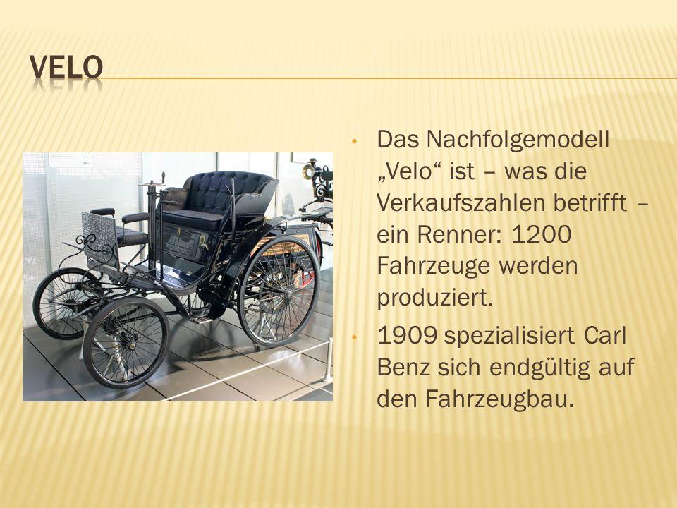 """Velo Das Nachfolgemodell """"Velo ist – was die Verkaufszahlen betrifft – ein Renner: 1200 Fahrzeuge werden produziert."""