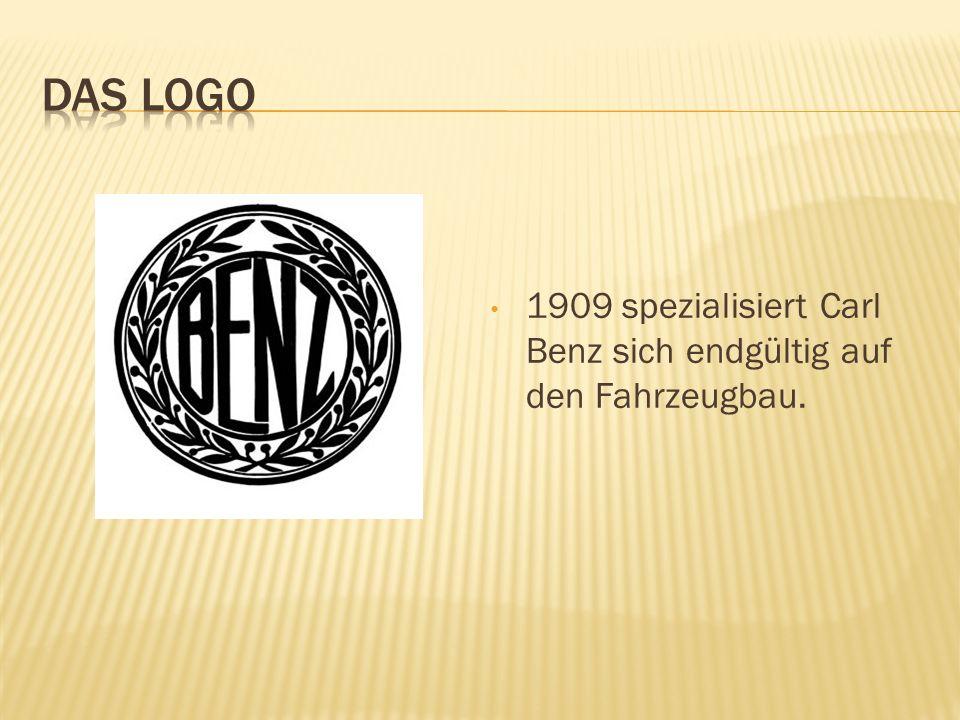 DAS LOGO 1909 spezialisiert Carl Benz sich endgültig auf den Fahrzeugbau.