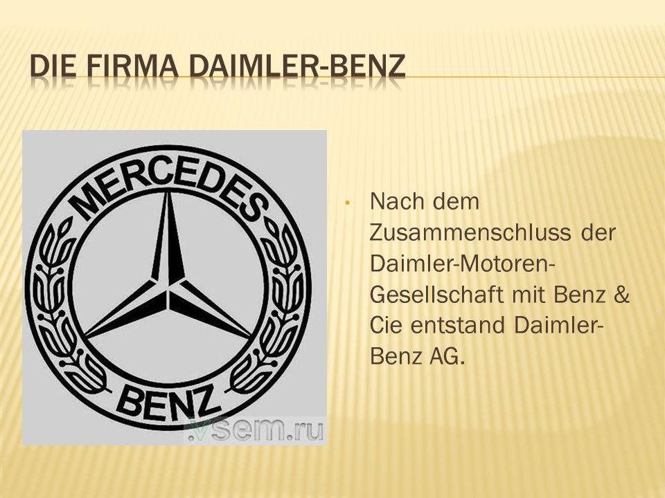 DIE FIRMA DAIMLER-BENZ