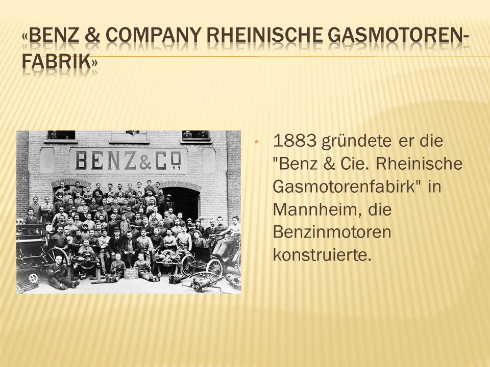 «Benz & Company Rheinische Gasmotoren-Fabrik»