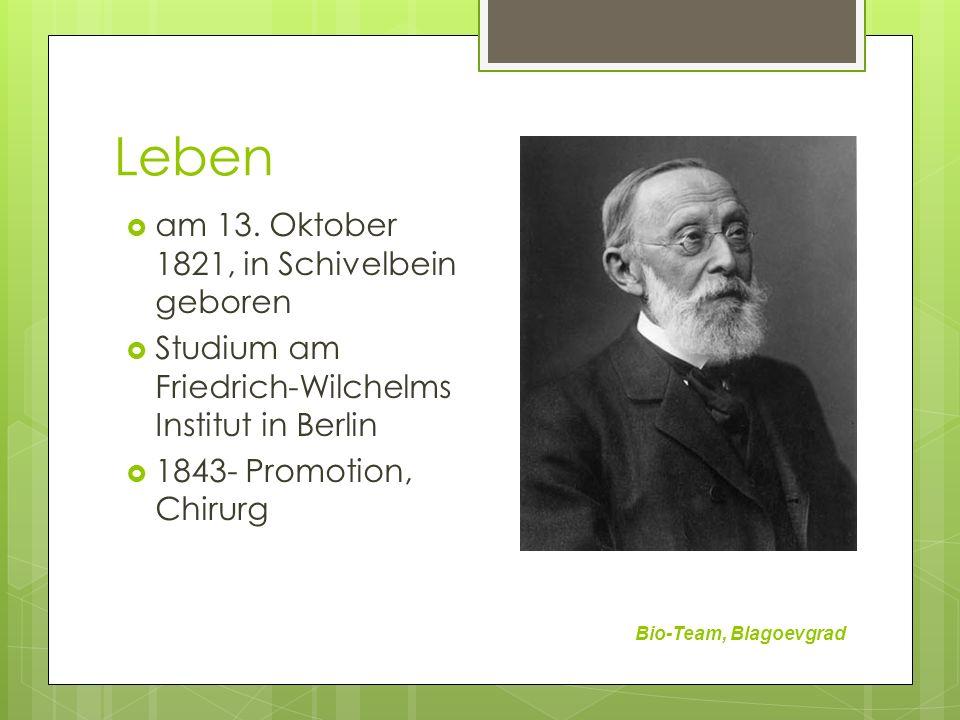 Leben am 13. Oktober 1821, in Schivelbein geboren