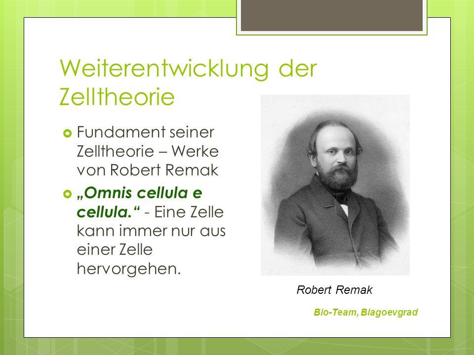 Weiterentwicklung der Zelltheorie