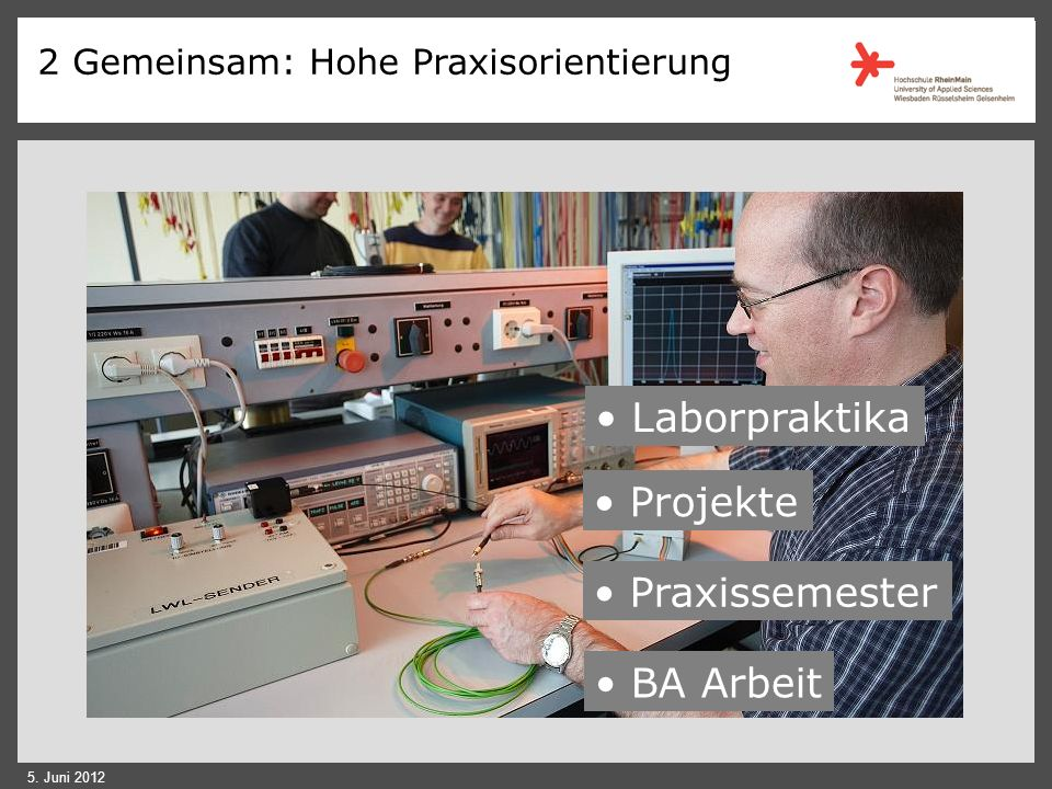 Laborpraktika Projekte Praxissemester BA Arbeit