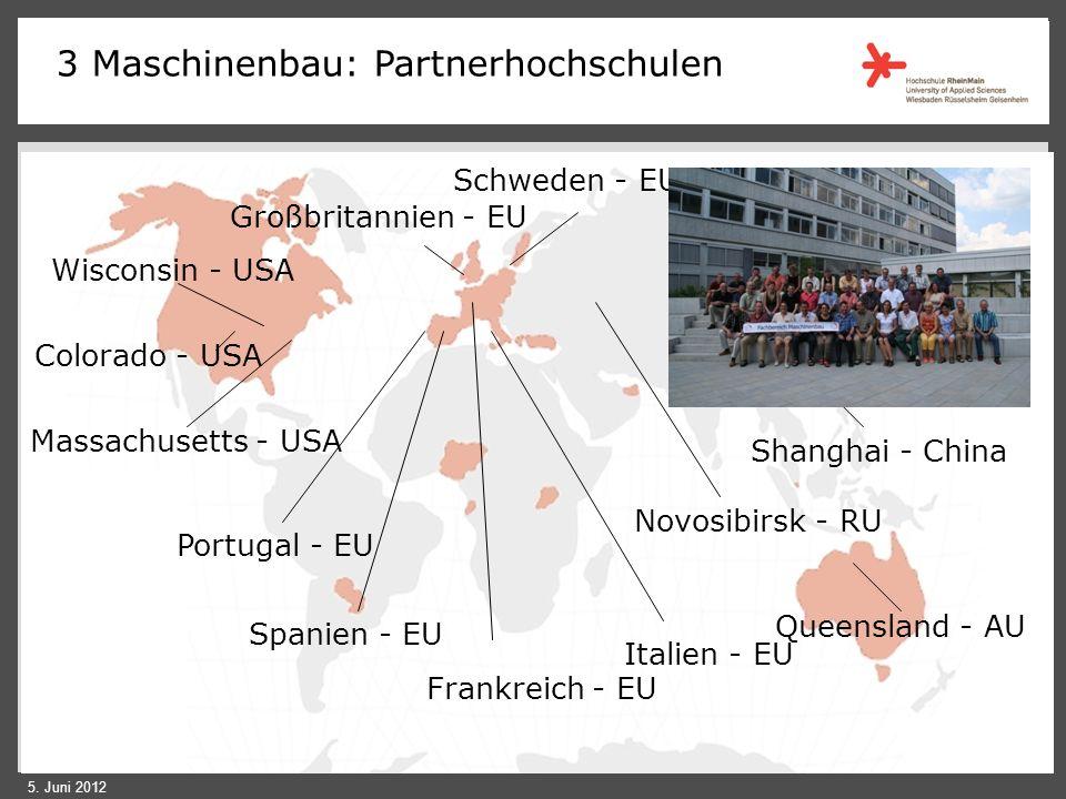 3 Maschinenbau: Partnerhochschulen