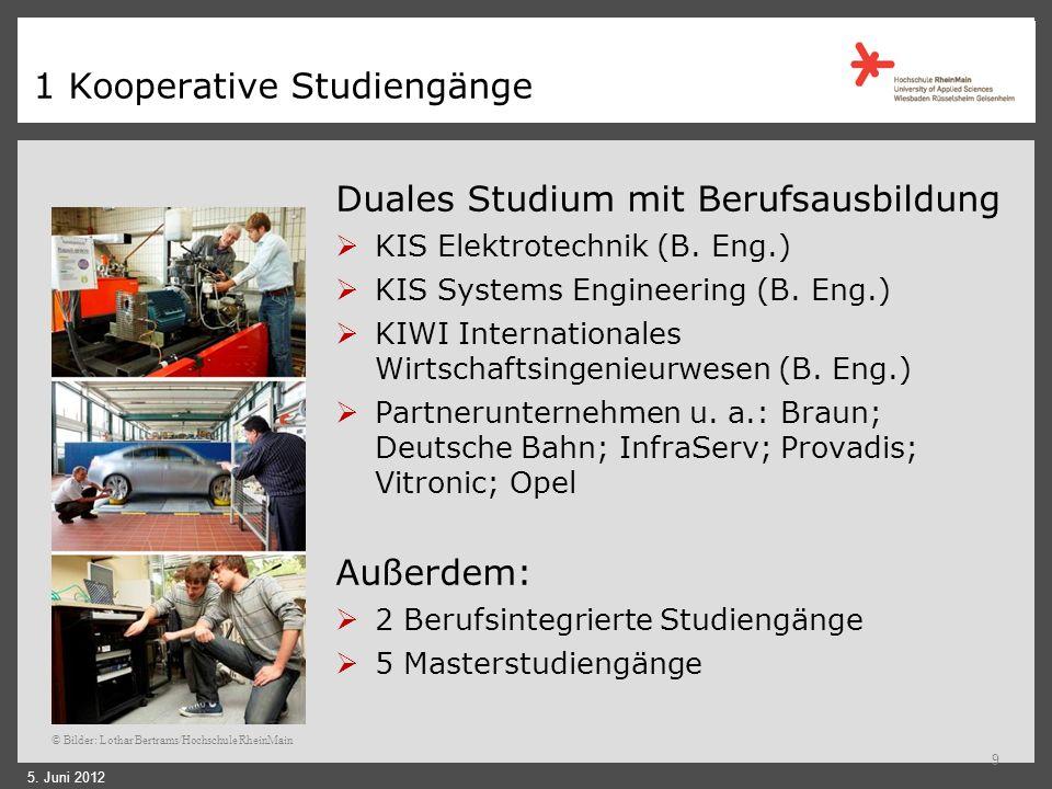1 Kooperative Studiengänge