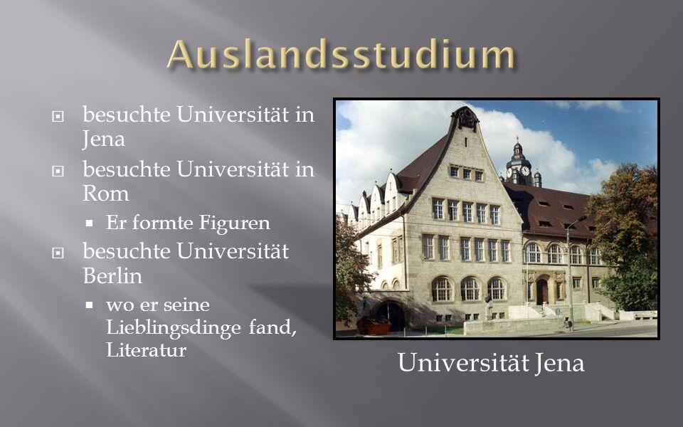 Auslandsstudium Universität Jena besuchte Universität in Jena