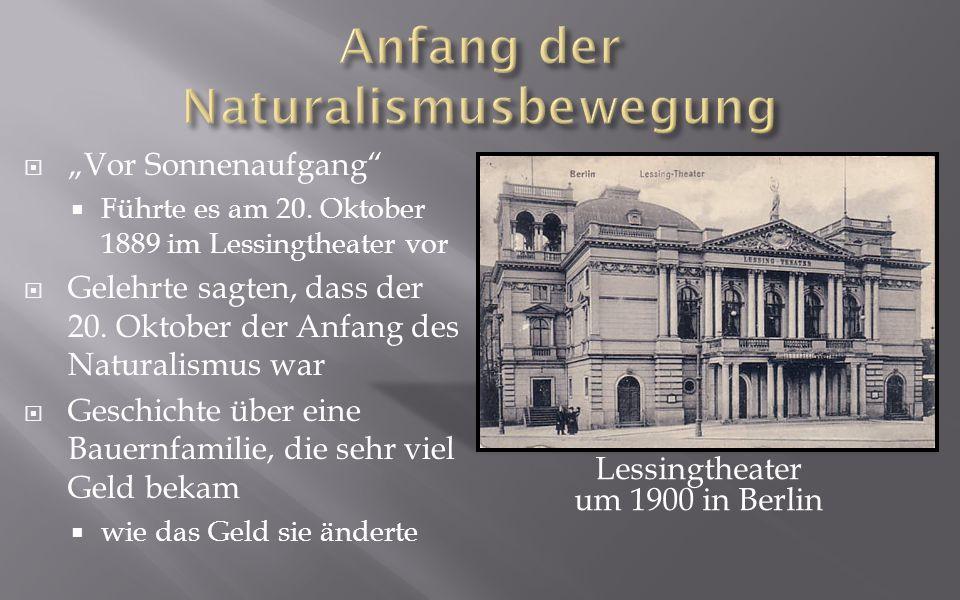 Anfang der Naturalismusbewegung