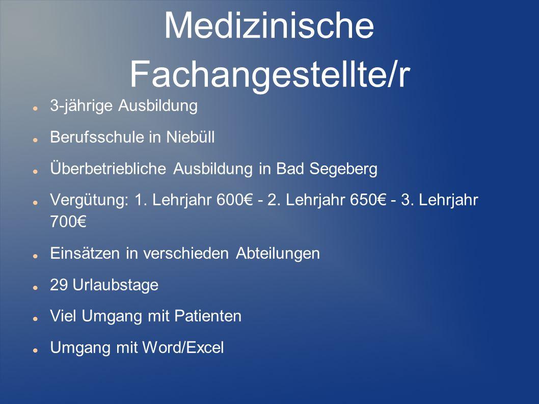 Medizinische Fachangestellte/r