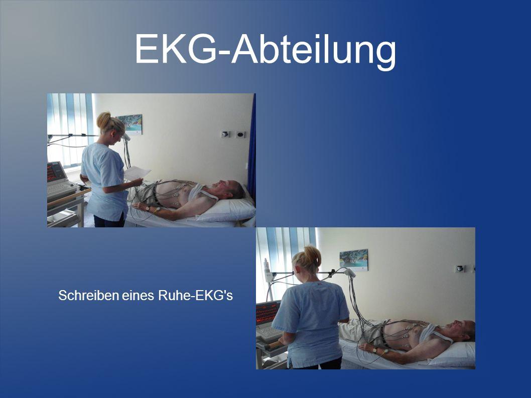 Schreiben eines Ruhe-EKG s