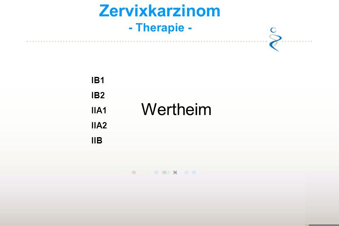 Zervixkarzinom - Therapie - IB1 IB2 IIA1 IIA2 IIB Wertheim 16