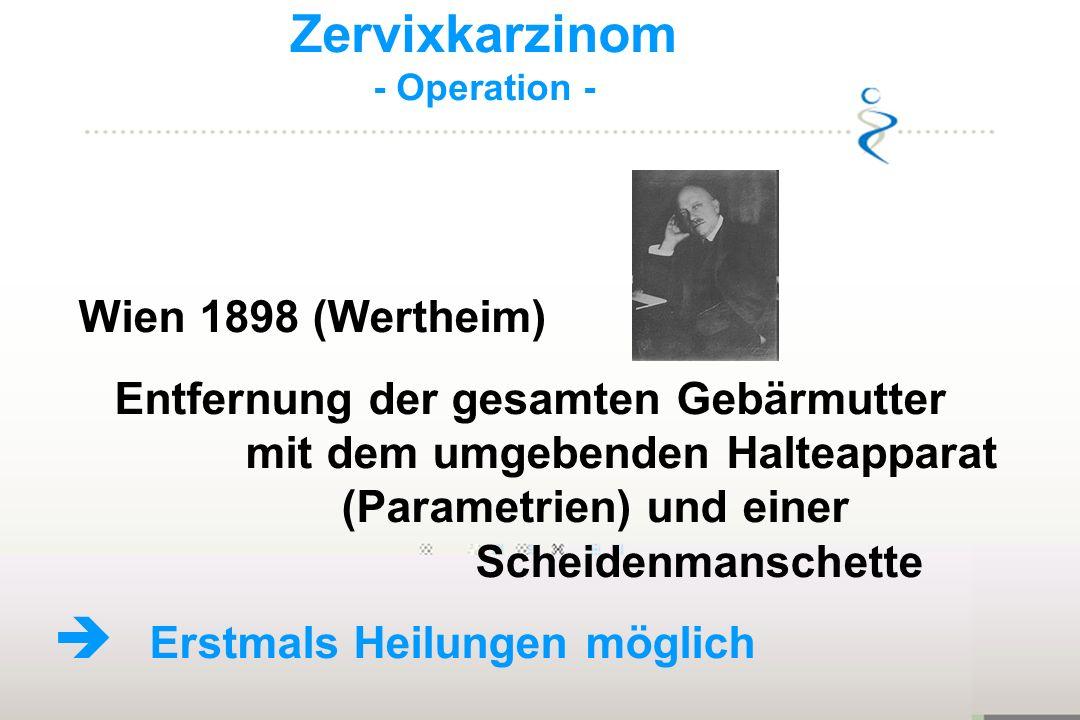 Zervixkarzinom Wien 1898 (Wertheim)