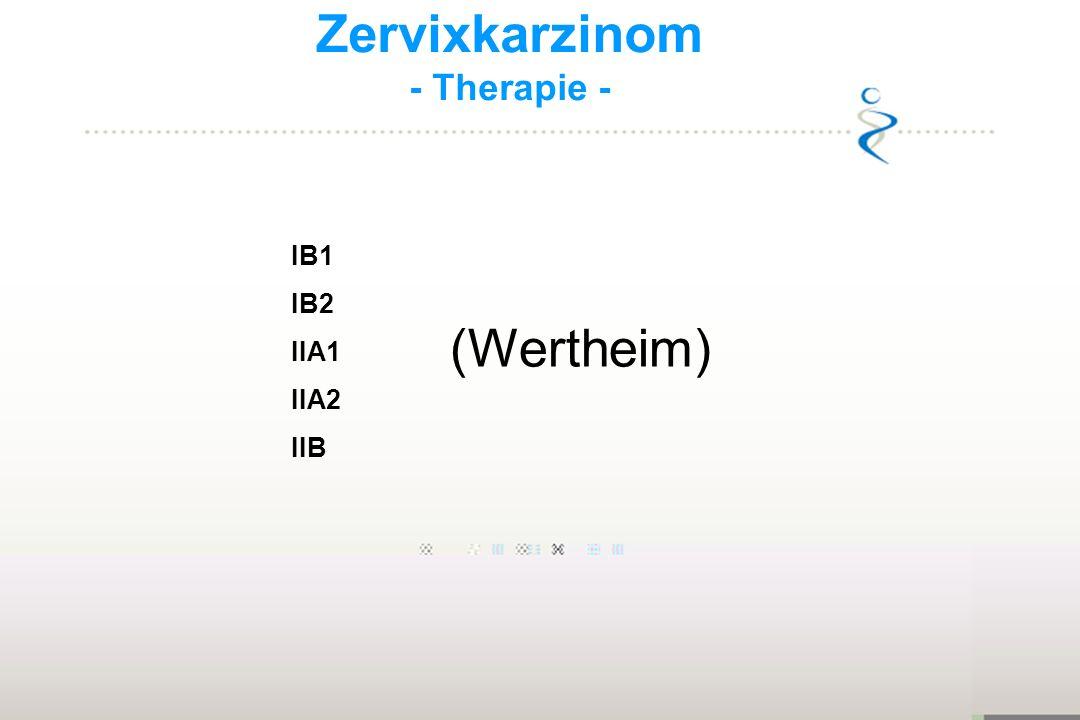 Zervixkarzinom - Therapie - IB1 IB2 IIA1 IIA2 IIB (Wertheim) 20