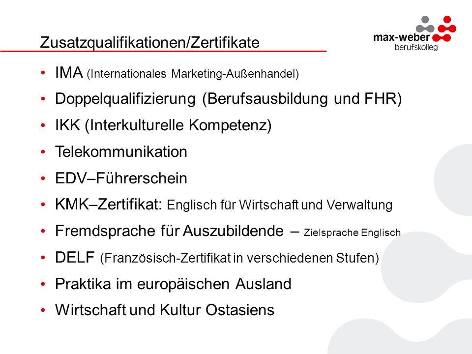 Zusatzqualifikationen/Zertifikate