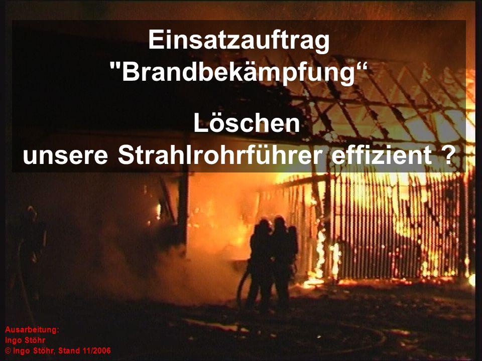 Einsatzauftrag Brandbekämpfung