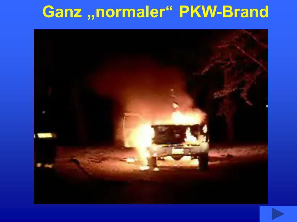 """Ganz """"normaler PKW-Brand"""