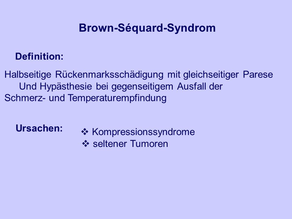 Brown-Séquard-Syndrom