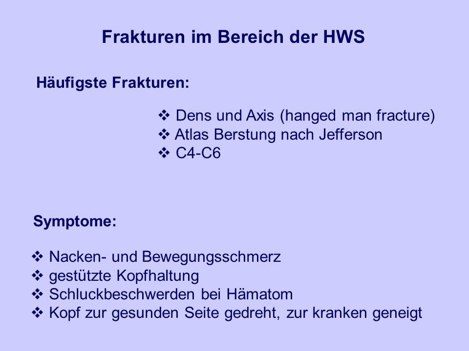 Frakturen im Bereich der HWS