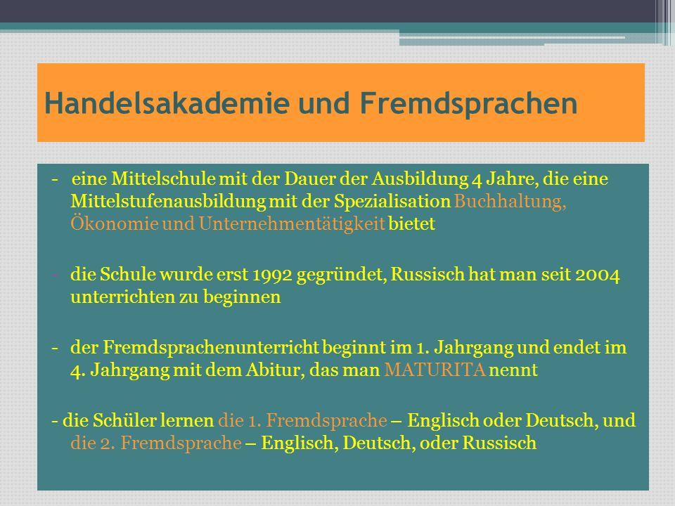 Handelsakademie und Fremdsprachen
