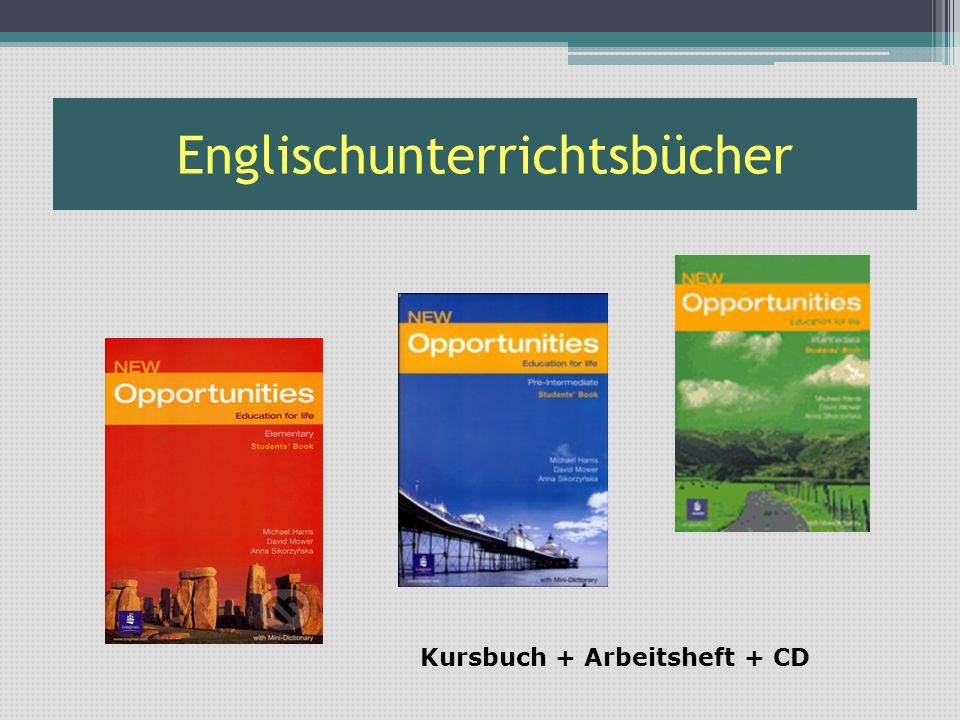 Englischunterrichtsbücher
