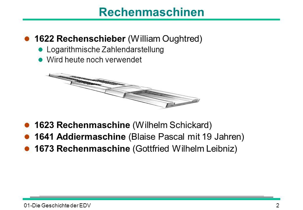 Rechenmaschinen 1622 Rechenschieber (William Oughtred)