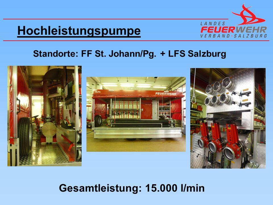 Hochleistungspumpe Gesamtleistung: 15.000 l/min
