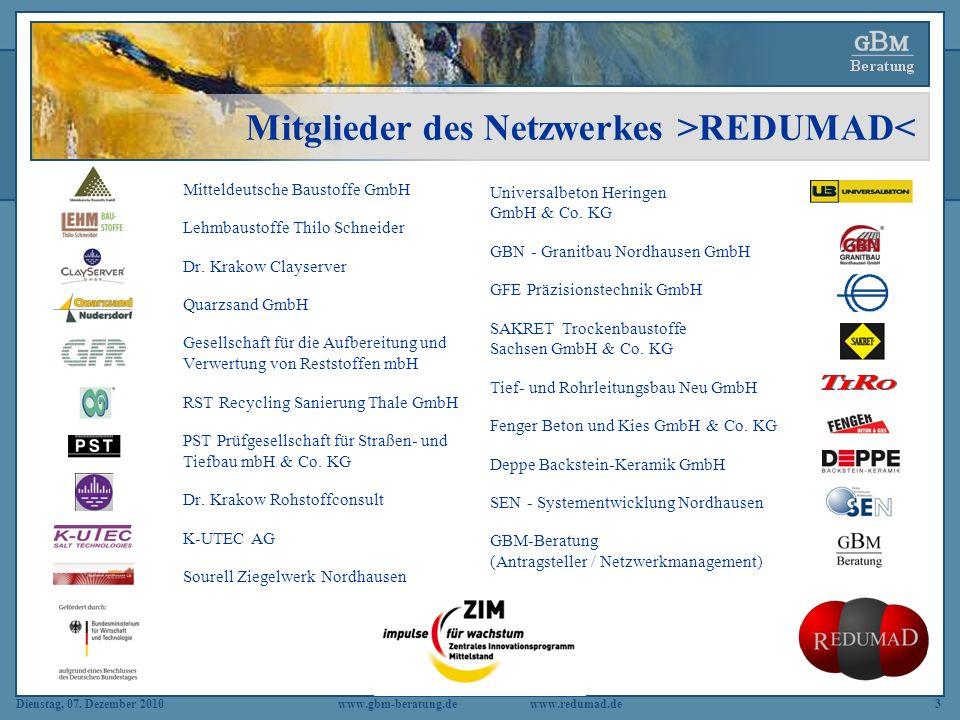 Mitglieder des Netzwerkes >REDUMAD<