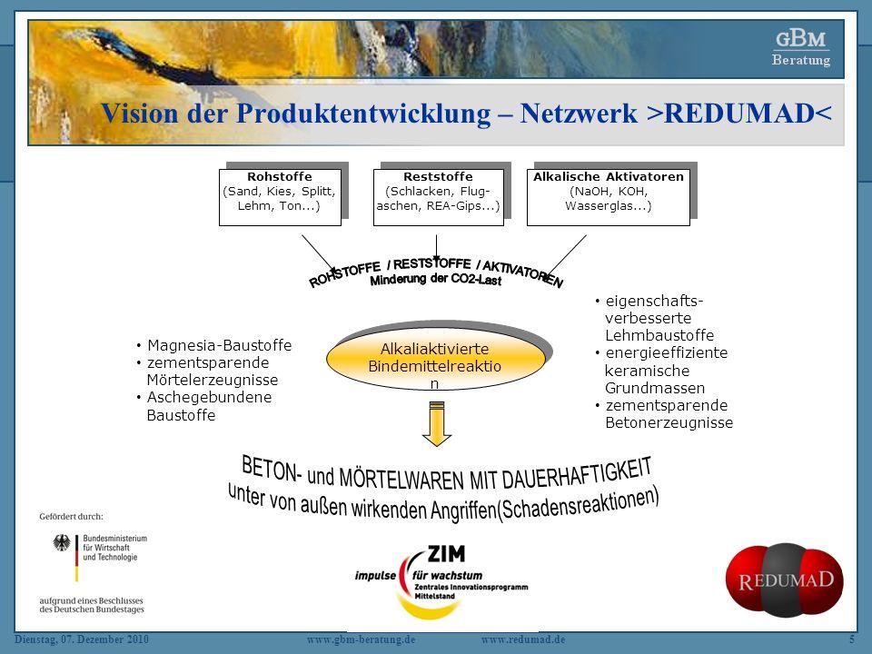 Vision der Produktentwicklung – Netzwerk >REDUMAD<
