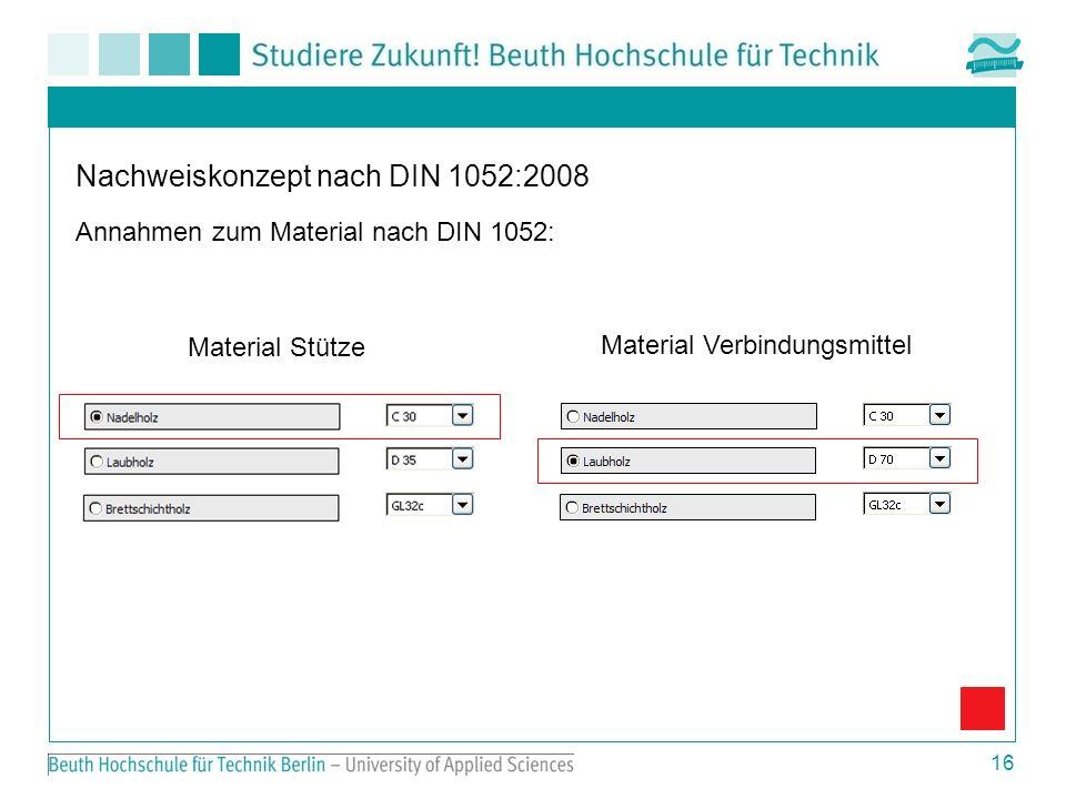 Nachweiskonzept nach DIN 1052:2008