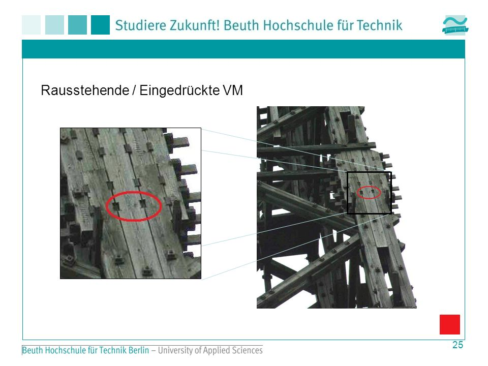 Rausstehende / Eingedrückte VM