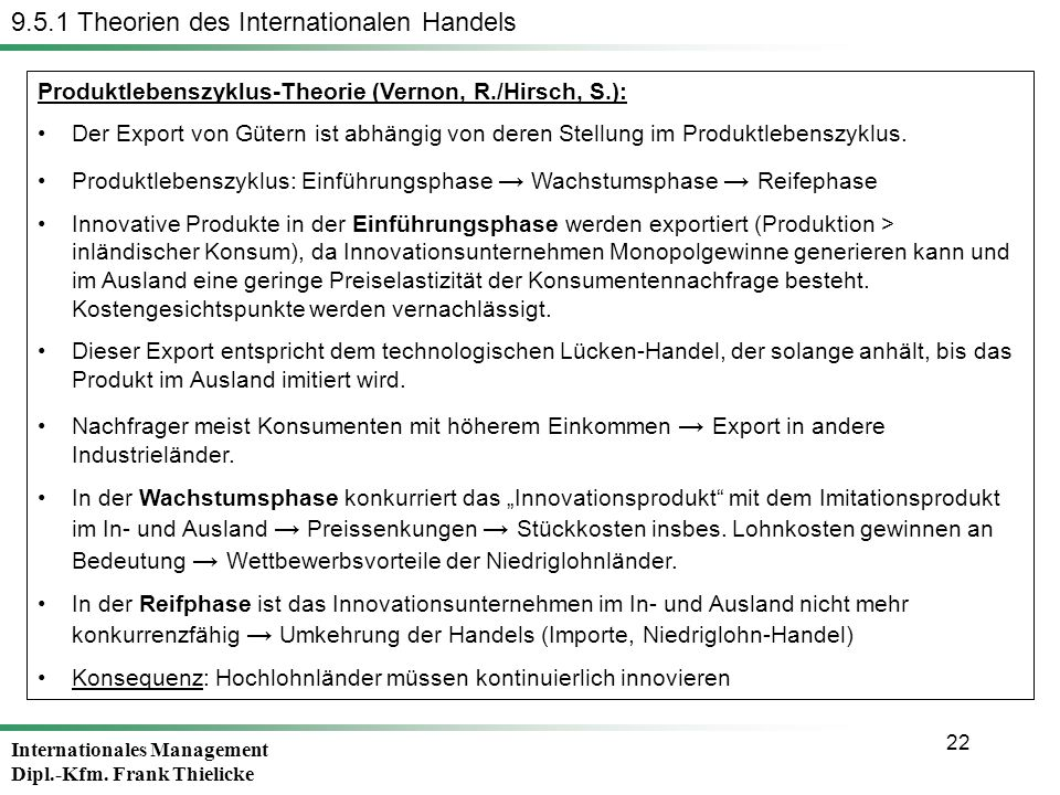 9.5.1 Theorien des Internationalen Handels