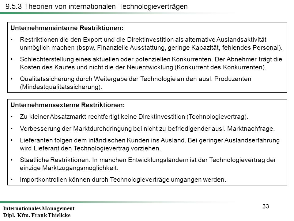 9.5.3 Theorien von internationalen Technologieverträgen