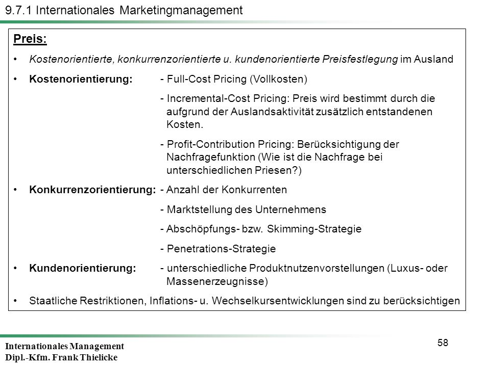 9.7.1 Internationales Marketingmanagement