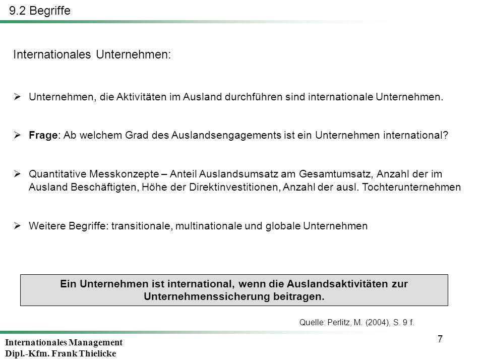 Internationales Unternehmen: