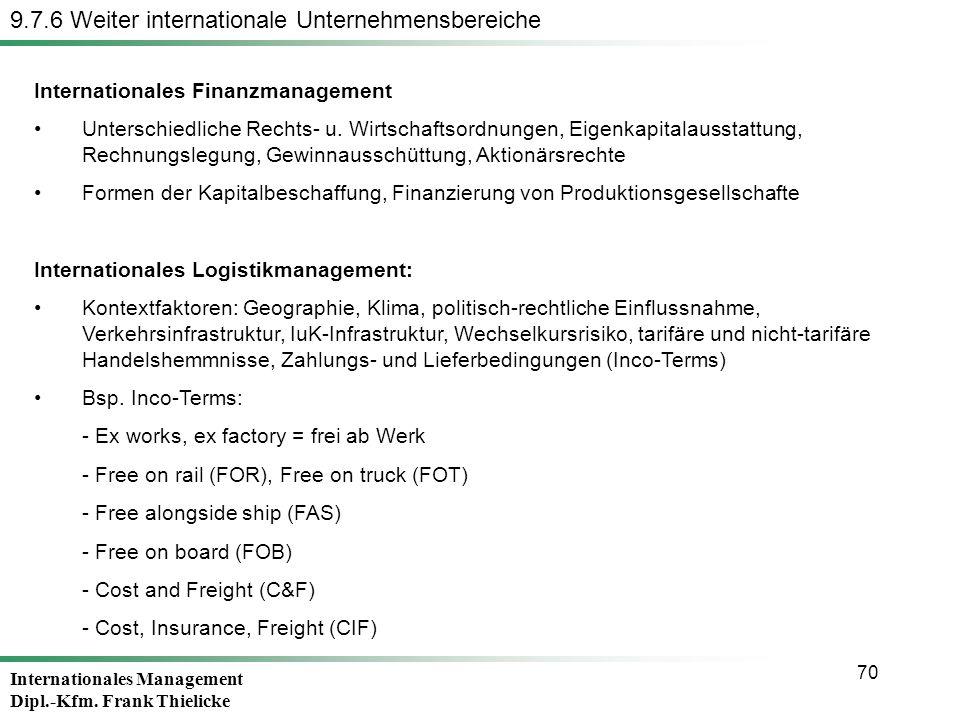 9.7.6 Weiter internationale Unternehmensbereiche
