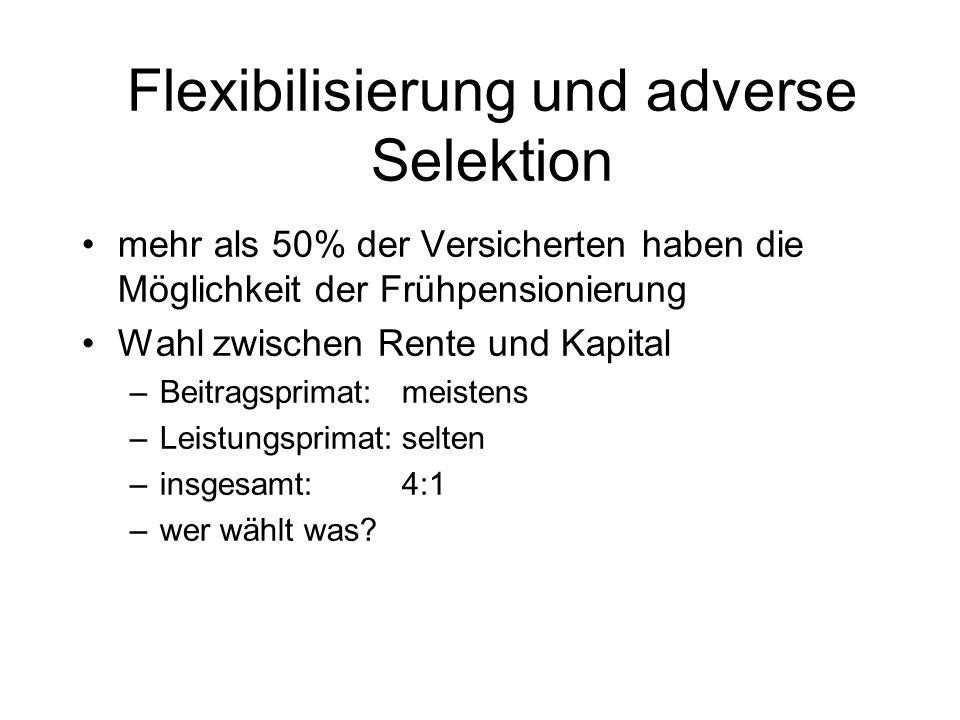 Flexibilisierung und adverse Selektion
