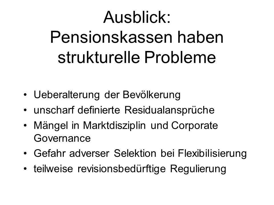 Ausblick: Pensionskassen haben strukturelle Probleme