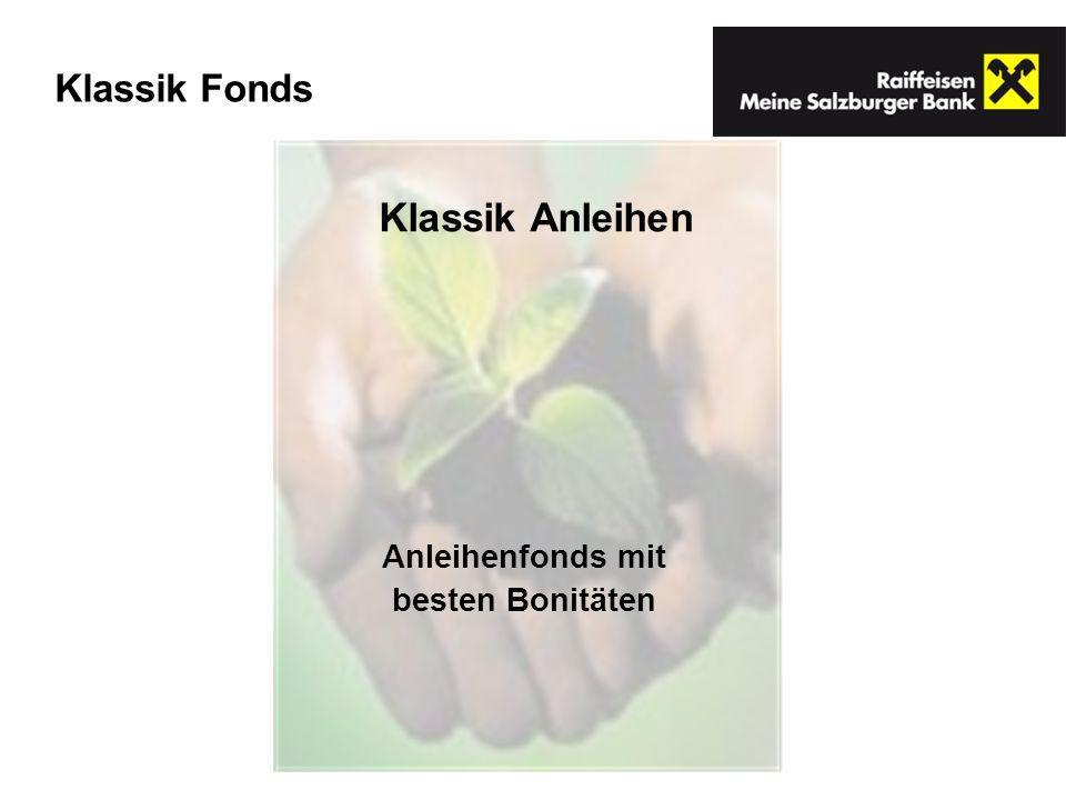 Anleihenfonds mit besten Bonitäten