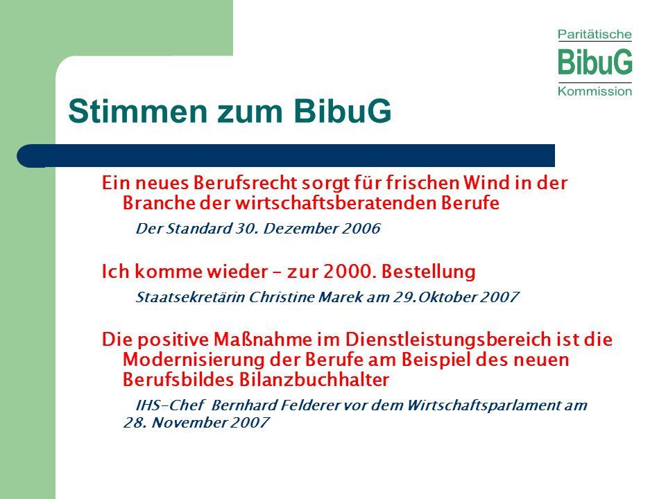 Stimmen zum BibuG Ein neues Berufsrecht sorgt für frischen Wind in der Branche der wirtschaftsberatenden Berufe.