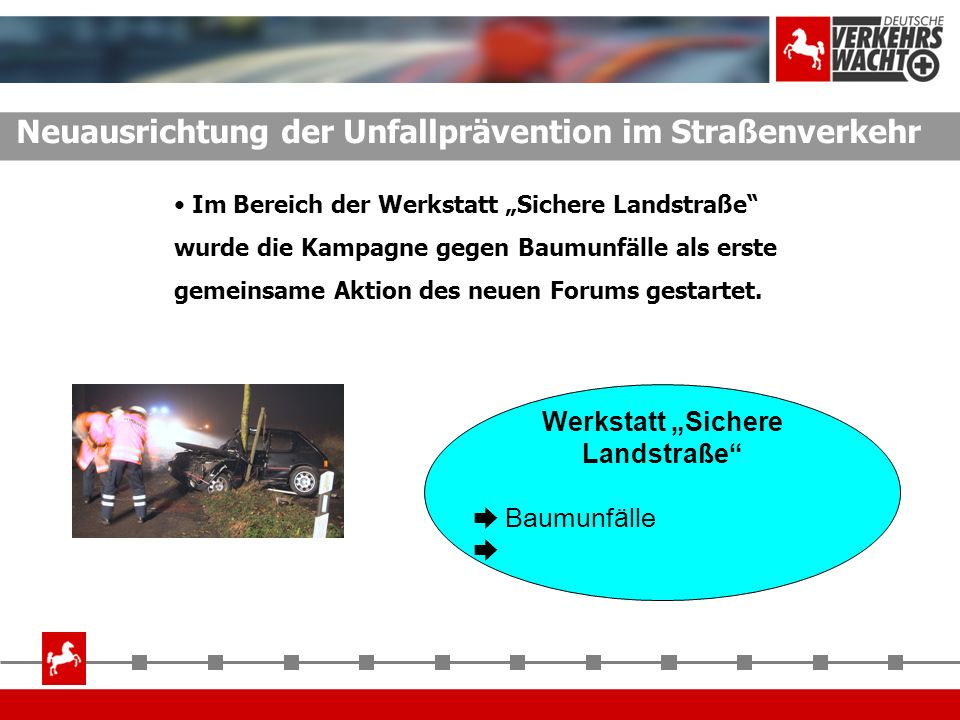 """Werkstatt """"Sichere Landstraße"""