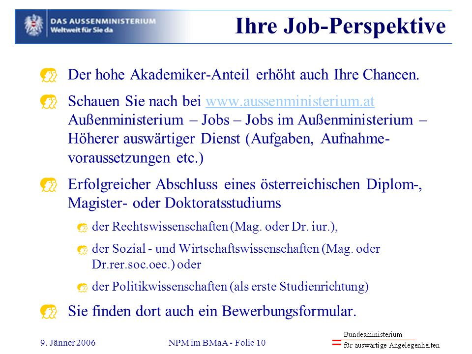 Reinhold Pölsler 31.03.2017. Ihre Job-Perspektive. Der hohe Akademiker-Anteil erhöht auch Ihre Chancen.