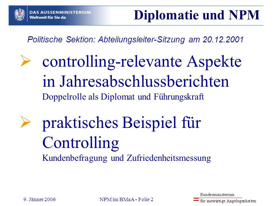 Politische Sektion: Abteilungsleiter-Sitzung am 20.12.2001