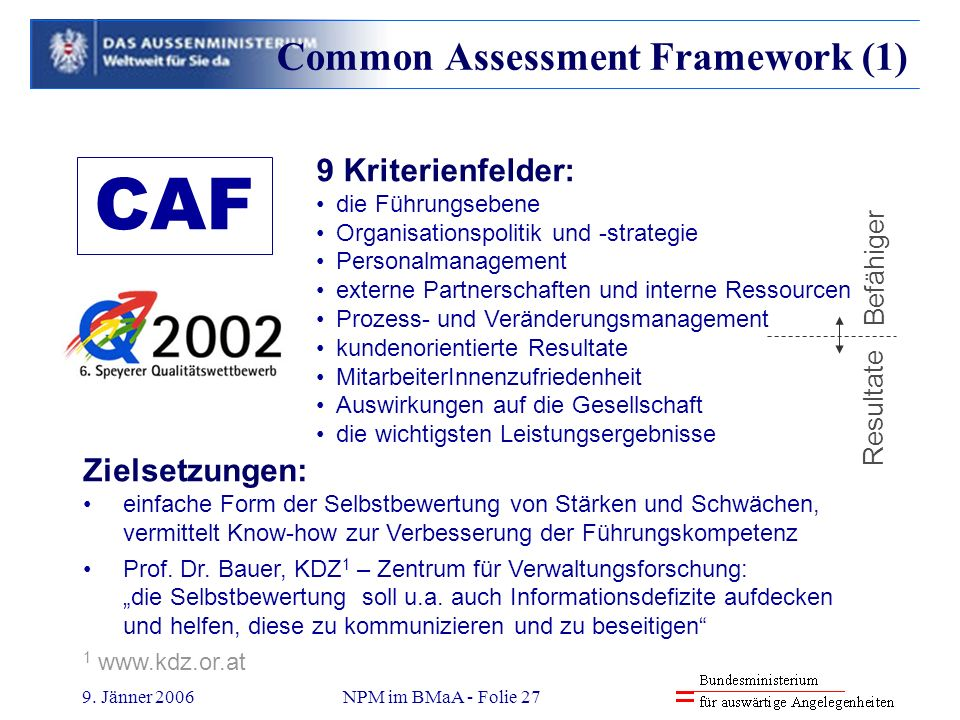 Common Assessment Framework (1)
