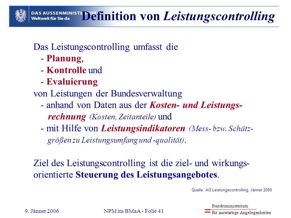 Definition von Leistungscontrolling