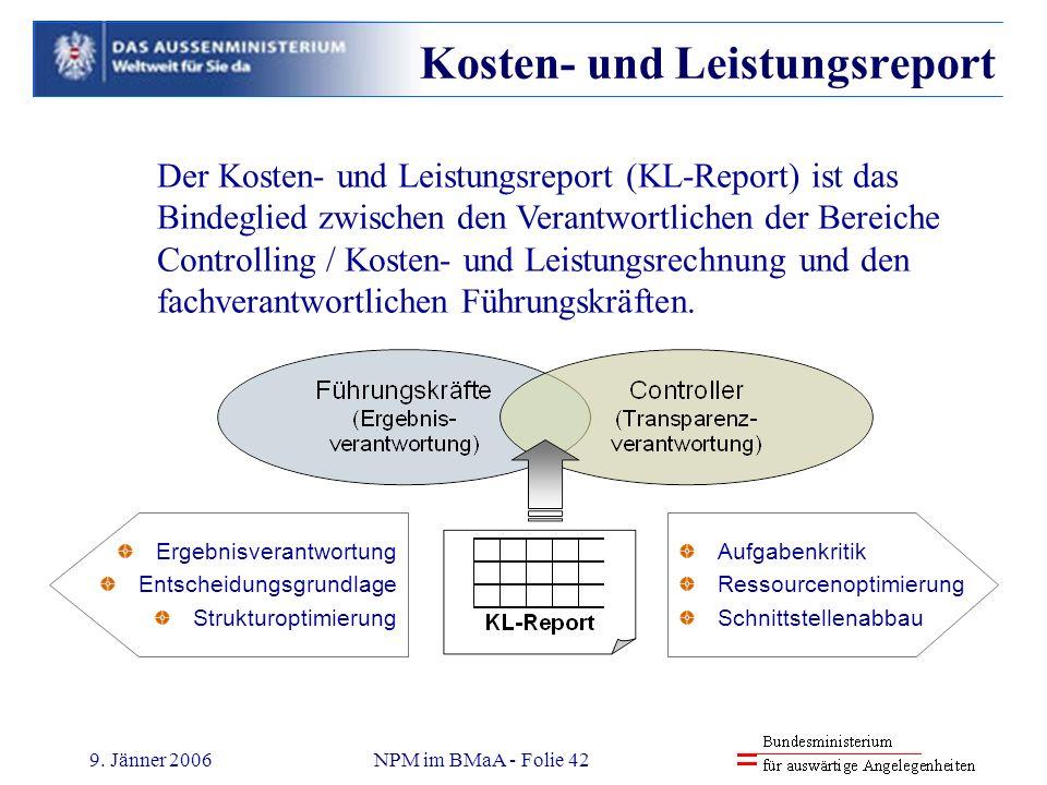 Kosten- und Leistungsreport