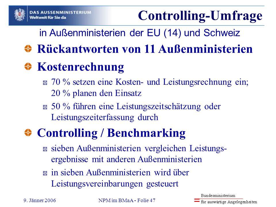 in Außenministerien der EU (14) und Schweiz