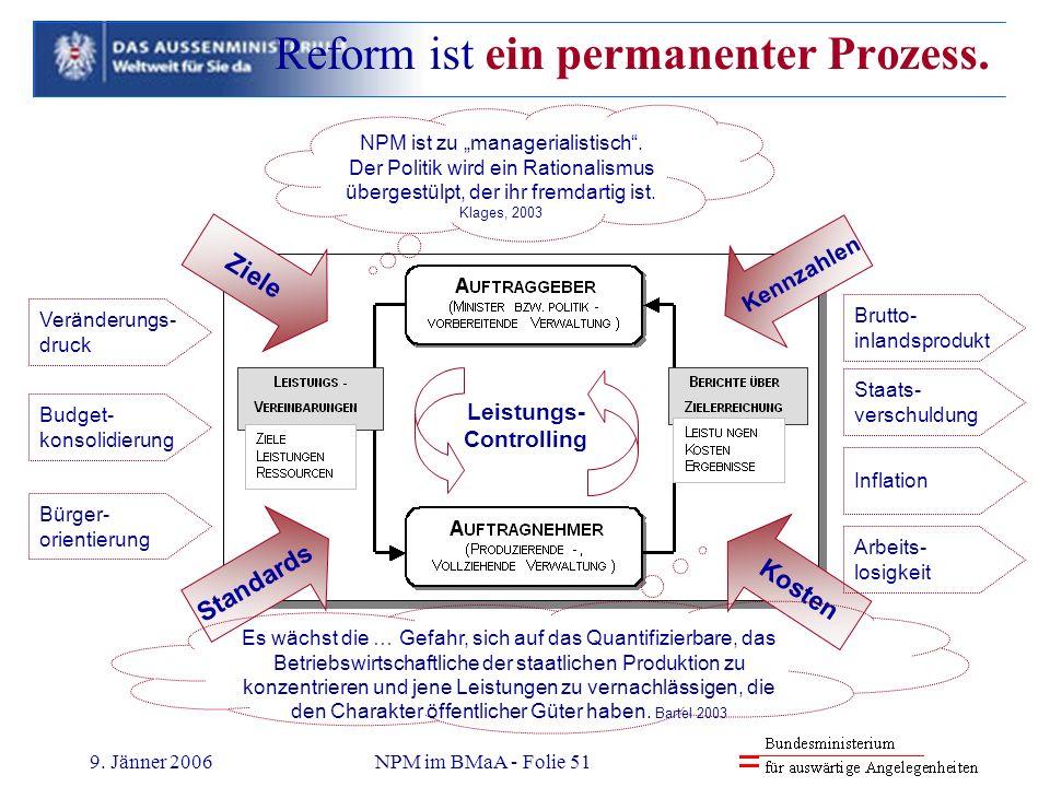 Reform ist ein permanenter Prozess.