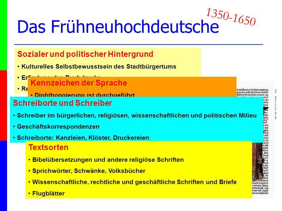 Das Frühneuhochdeutsche
